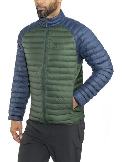 Haglöfs Essens Mimic Hood Jacket Men Mineral/Tarn Blue